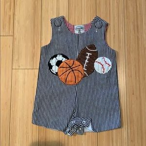 Mud Pie Baby sports onsie. LIKE NEW!!!❤️❤️